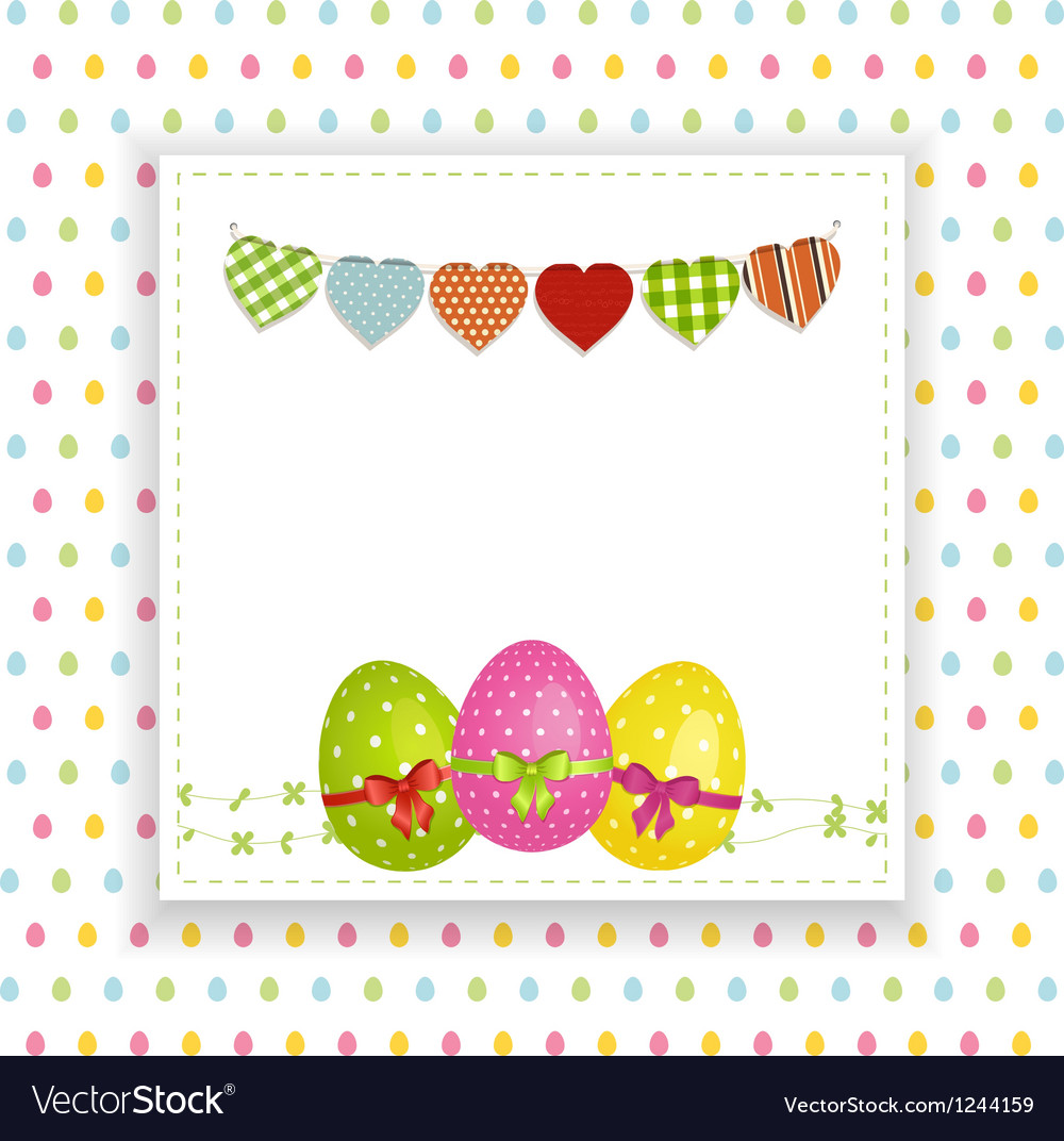 Easter background with panel and bunting vector | Price: 1 Credit (USD $1)
