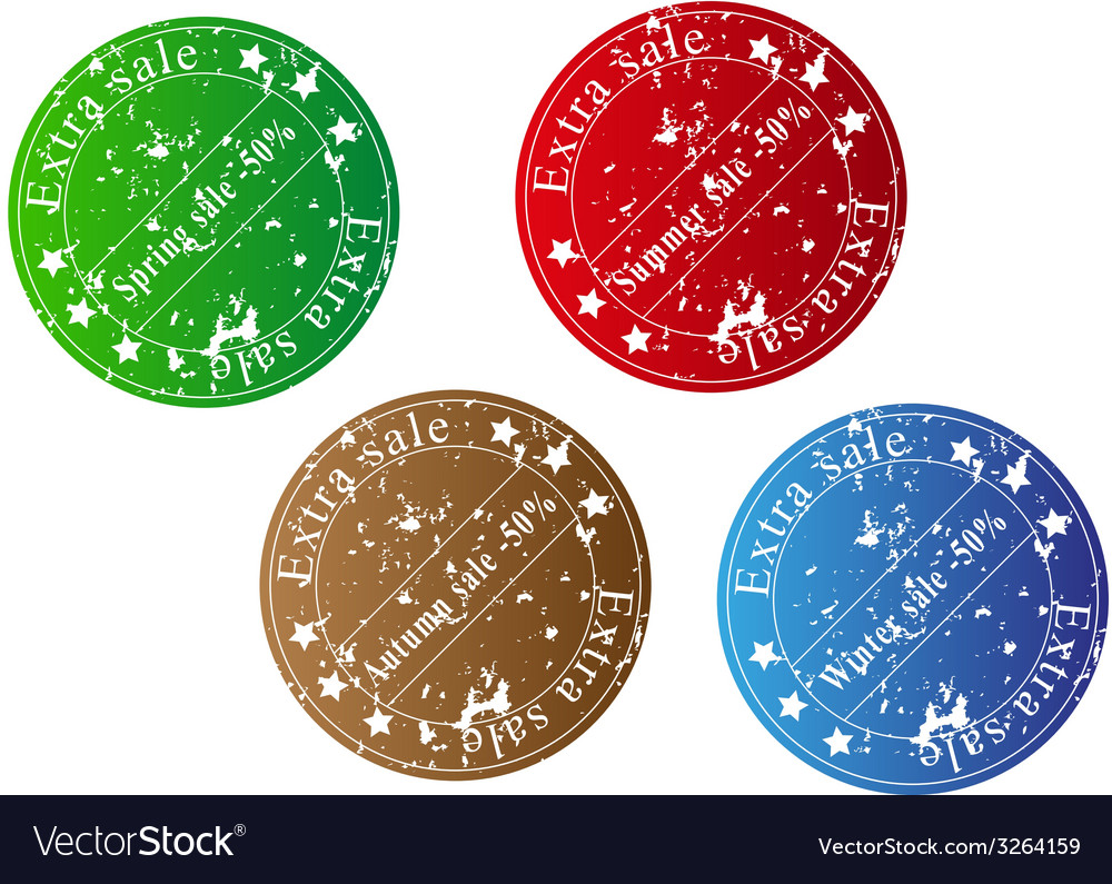 Extra sale stamps vector | Price: 1 Credit (USD $1)