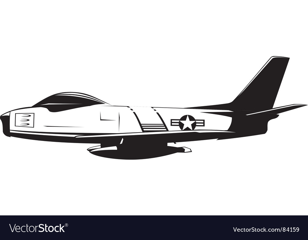 F86 sabre vector | Price: 1 Credit (USD $1)