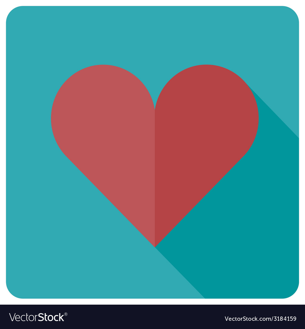 Flat heart icon vector | Price: 1 Credit (USD $1)