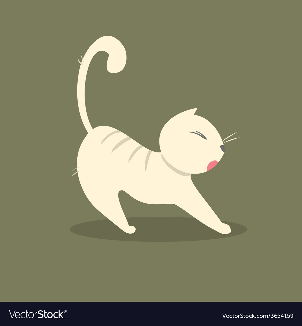 Funny fat cat stretches vector | Price: 1 Credit (USD $1)