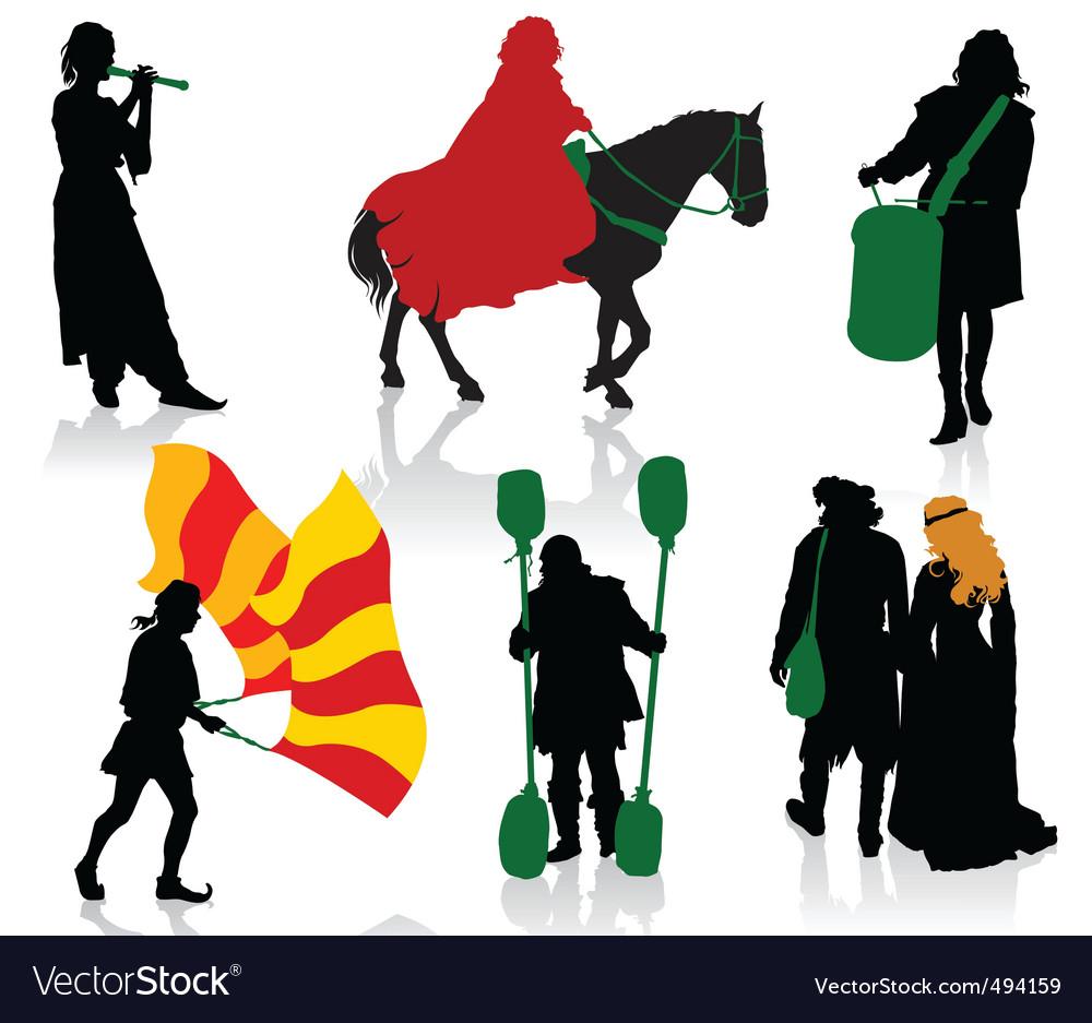 Medieval people vector | Price: 1 Credit (USD $1)