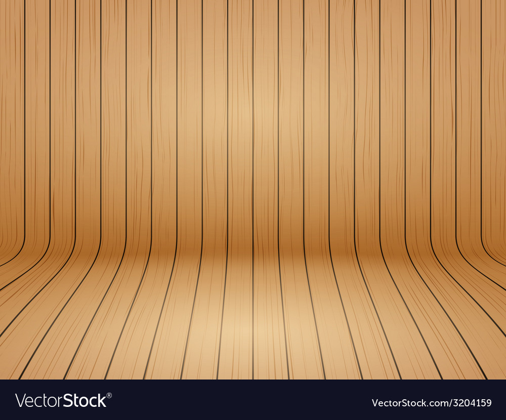 Old curved wooden background grunge old interior vector | Price: 1 Credit (USD $1)