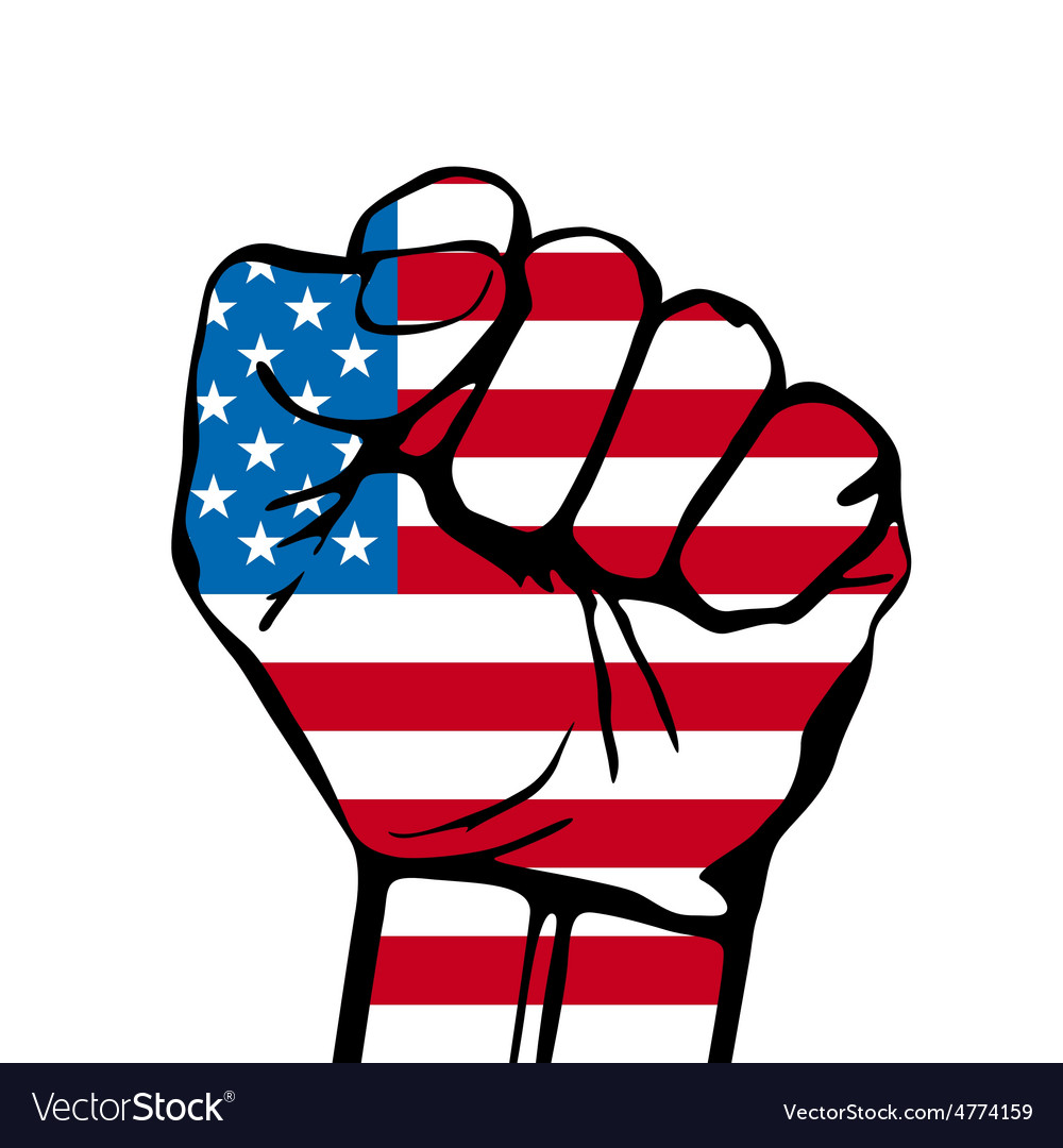 Power of liberty concept with usa flag background vector | Price: 1 Credit (USD $1)