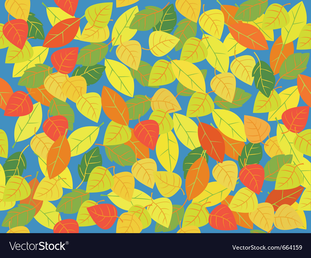 Seemless leaf tile in autum colors vector | Price: 1 Credit (USD $1)
