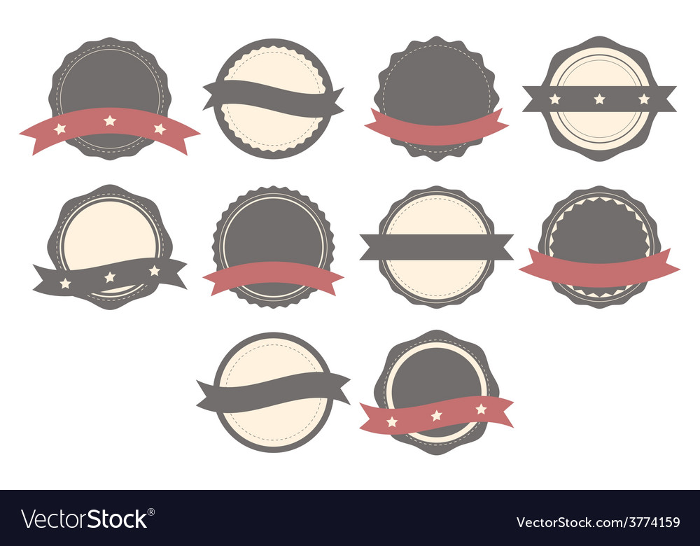 Set of badges labels and logos vector | Price: 1 Credit (USD $1)