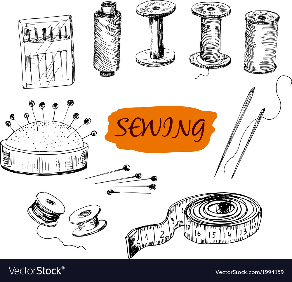 Sewing set of vector | Price: 1 Credit (USD $1)