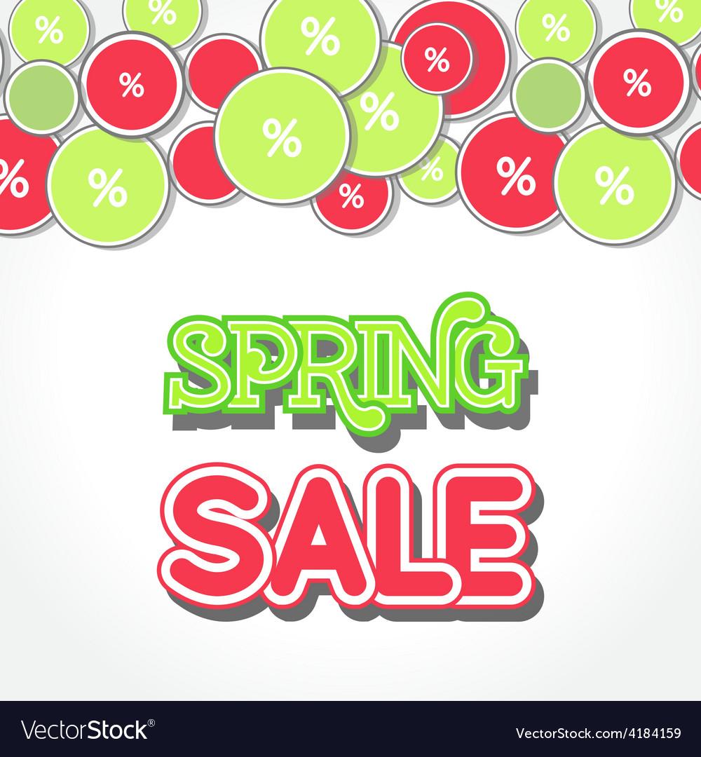 Spring sale design vector | Price: 1 Credit (USD $1)