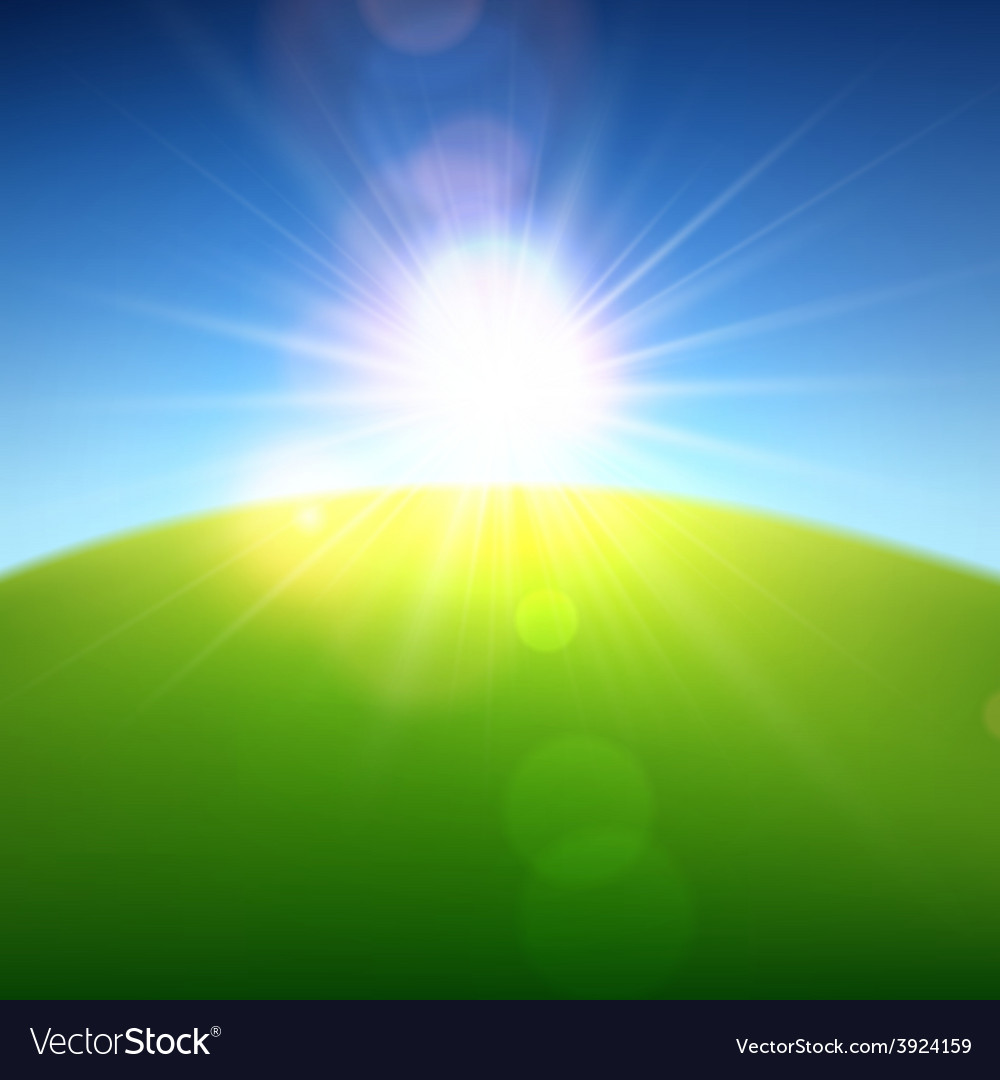 Summer view blurry field background vector | Price: 1 Credit (USD $1)