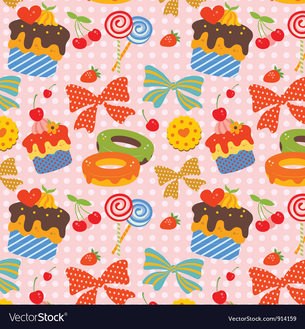 Sweet pattern vector | Price: 1 Credit (USD $1)