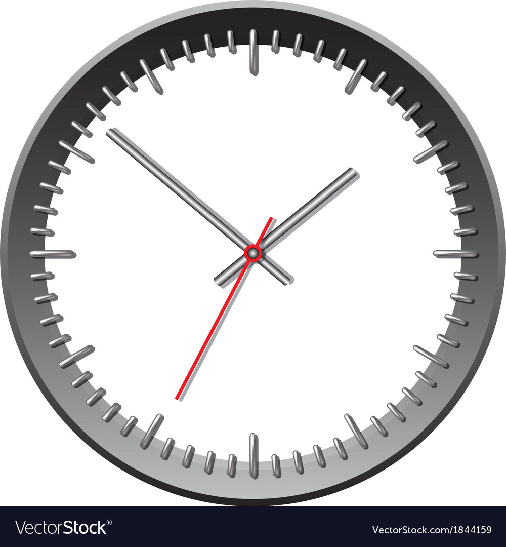 Wall mechanical clock vector   Price: 1 Credit (USD $1)