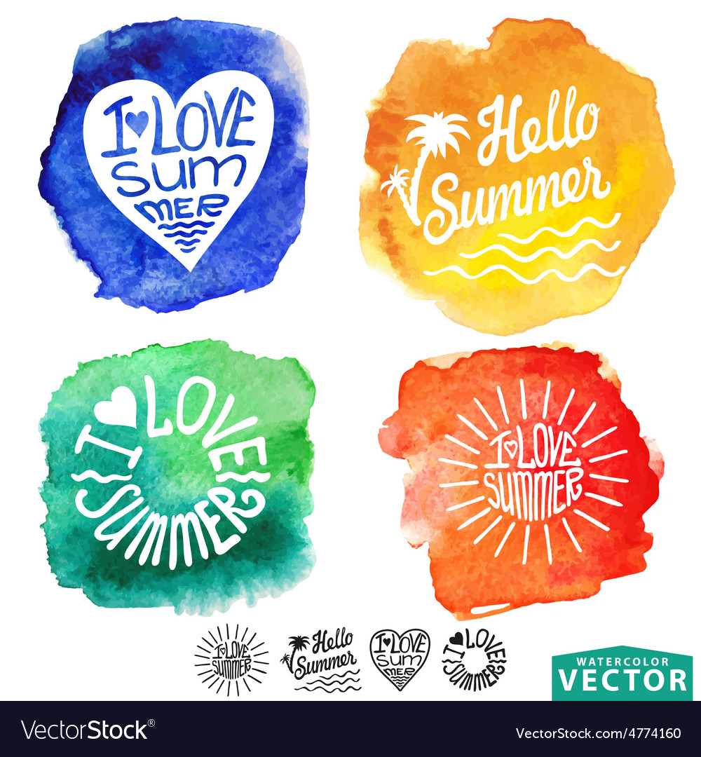 Abstract wtercolor cardbackgroundsummer design vector | Price: 1 Credit (USD $1)