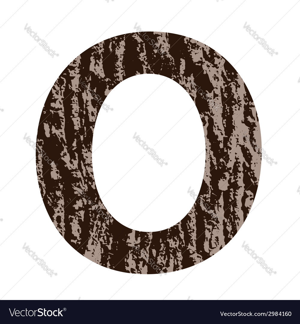 Bark letter o vector | Price: 1 Credit (USD $1)