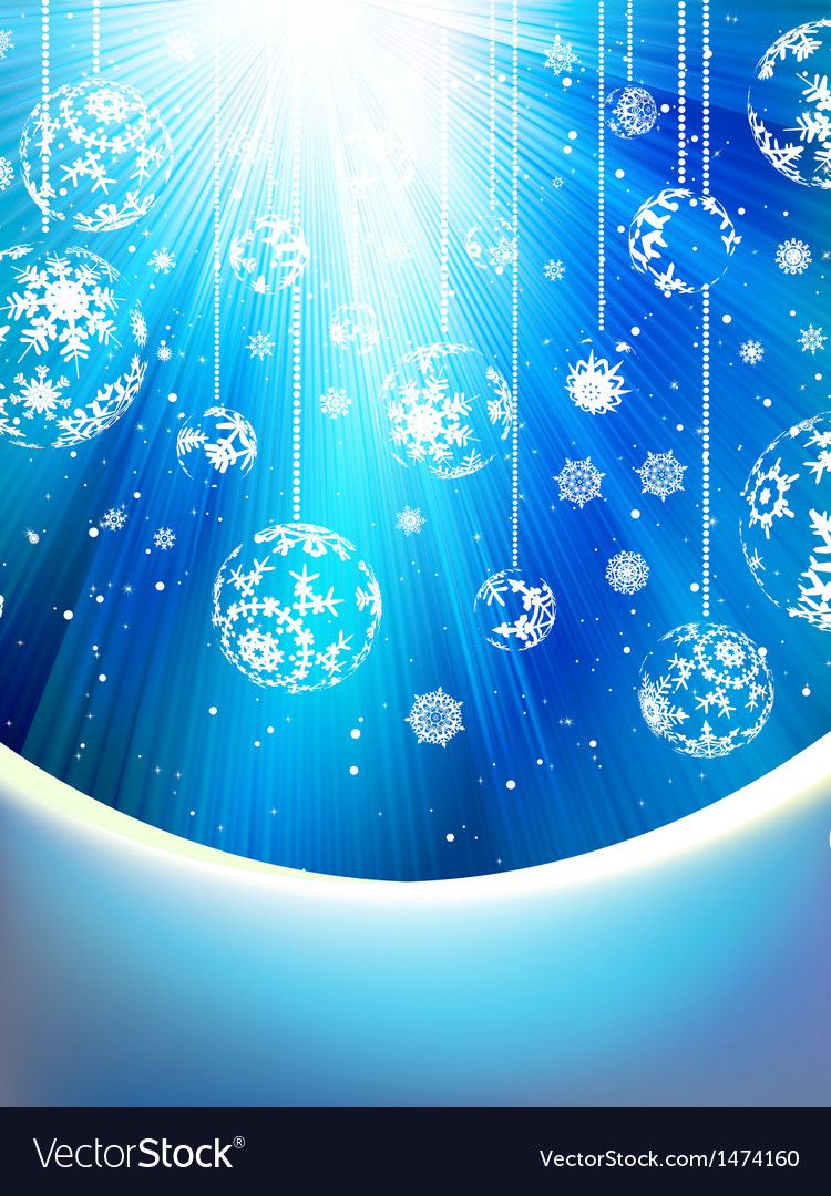 Blue background with snowflakes eps 10 vector | Price: 1 Credit (USD $1)