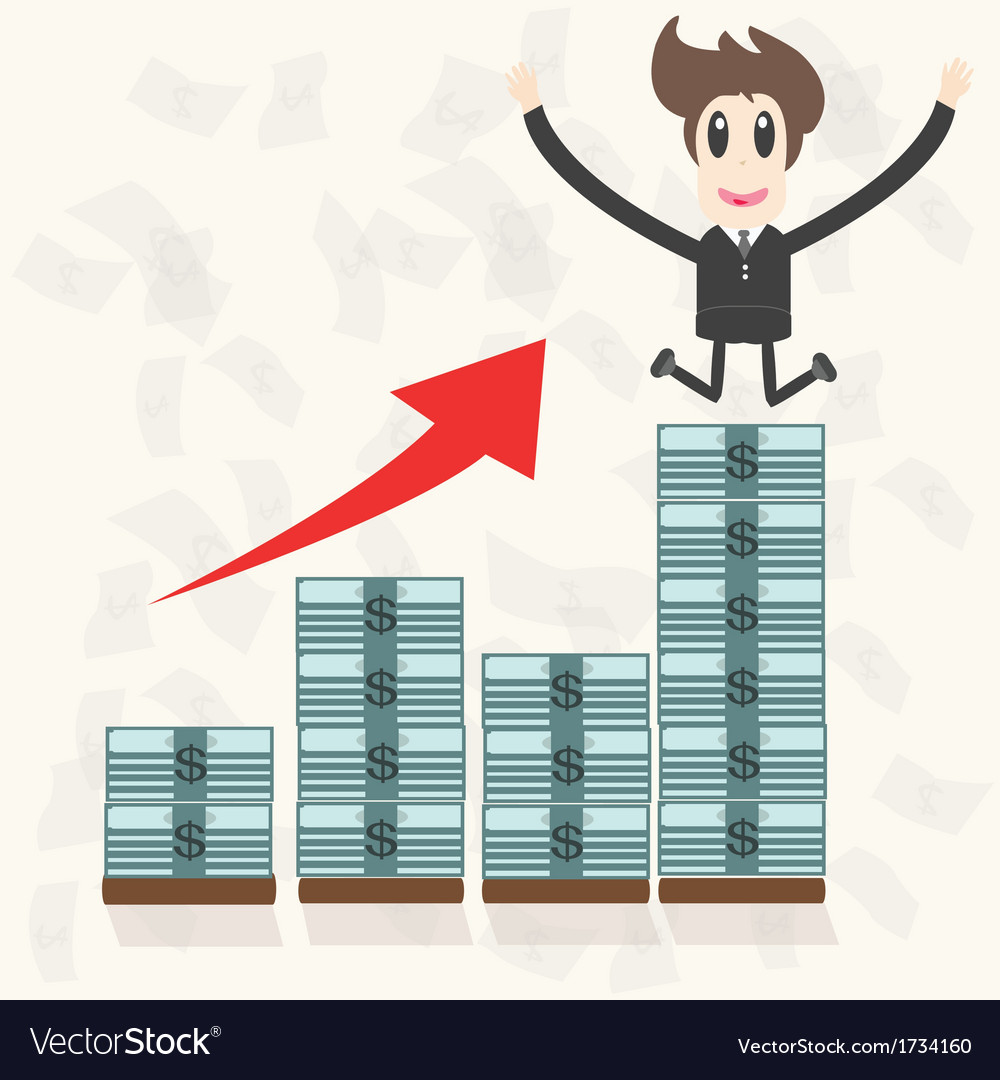 Business man making money vector | Price: 1 Credit (USD $1)