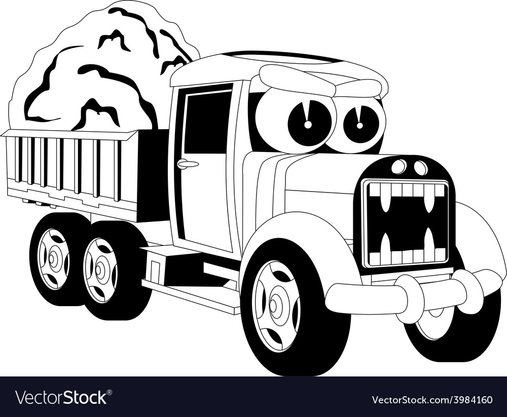 Cartoon lorry car vector | Price: 1 Credit (USD $1)