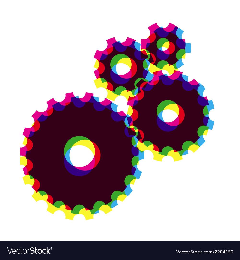 Cogwheels gears vector | Price: 1 Credit (USD $1)