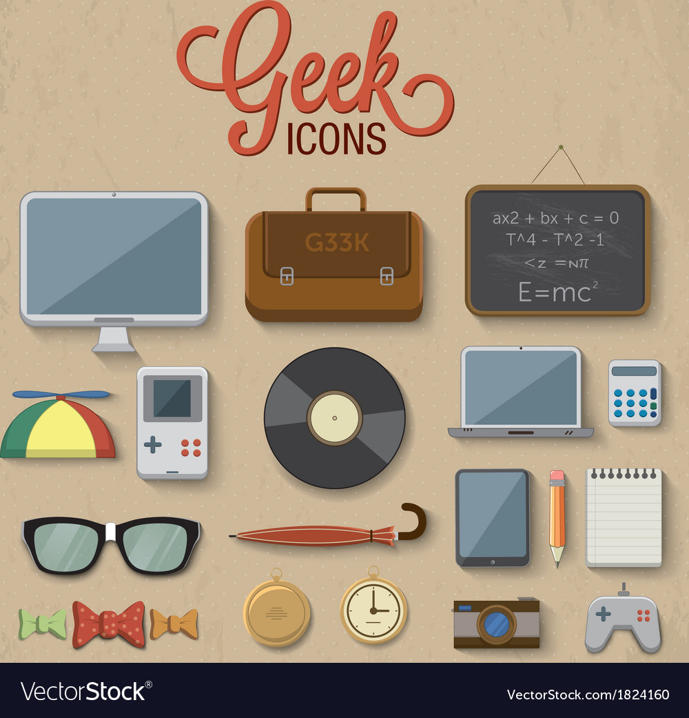 Geek accessories vector | Price: 1 Credit (USD $1)