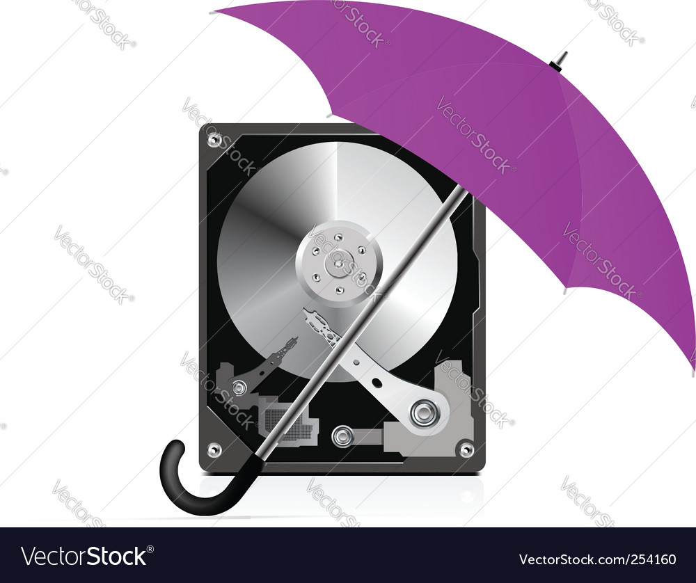 Hard disk drive protection vector | Price: 1 Credit (USD $1)