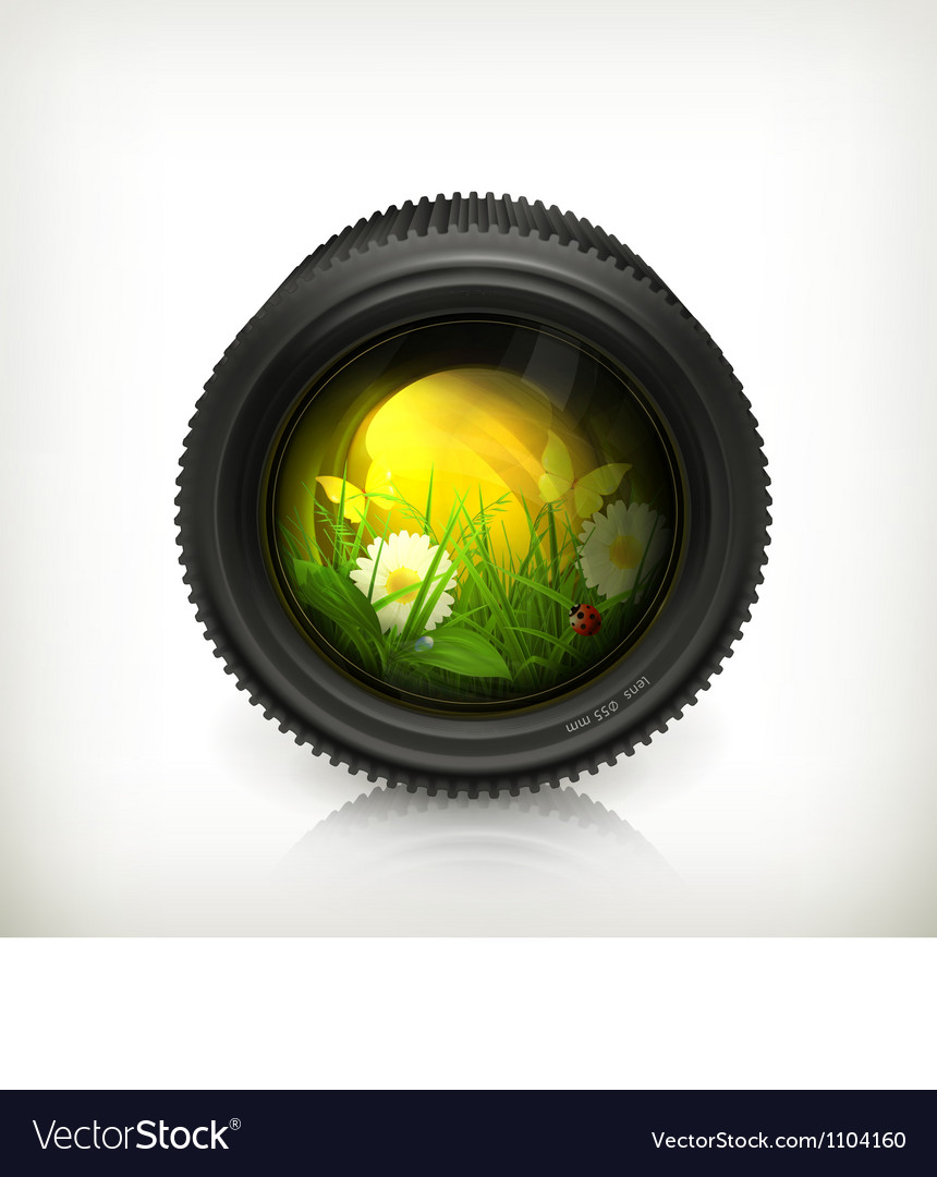 Lens icon vector | Price: 1 Credit (USD $1)