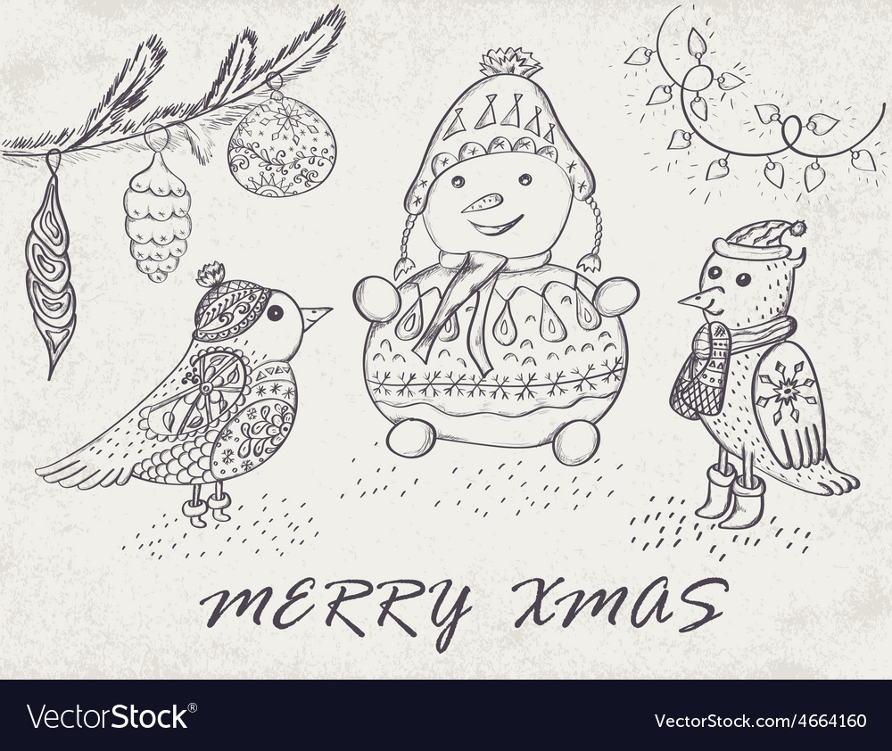 Marry christmas card vector | Price: 1 Credit (USD $1)