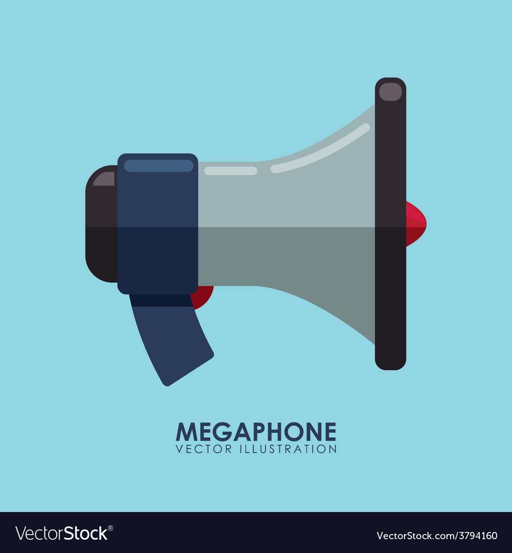 Megaphone icon vector   Price: 1 Credit (USD $1)