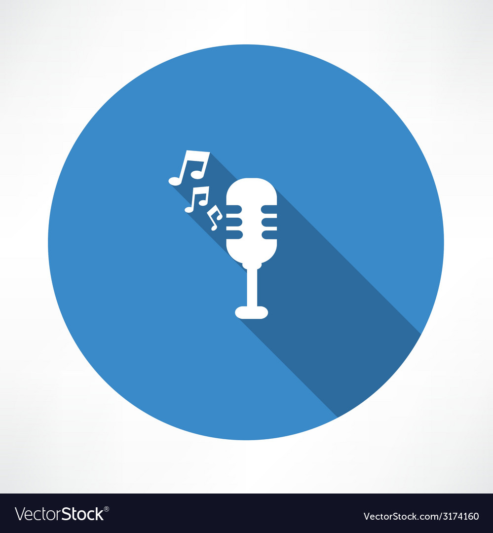 Microphone and melody icon vector | Price: 1 Credit (USD $1)