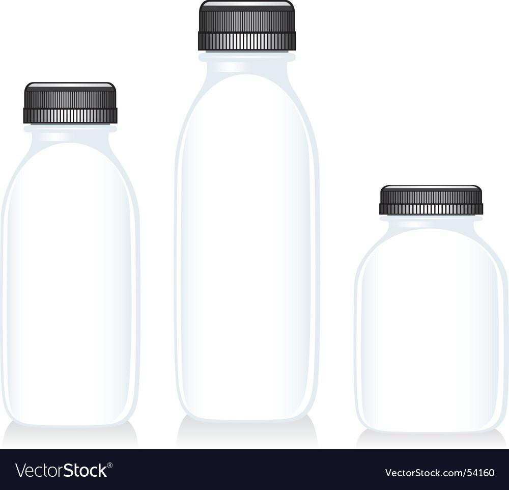 Milk glass bottles vector | Price: 1 Credit (USD $1)