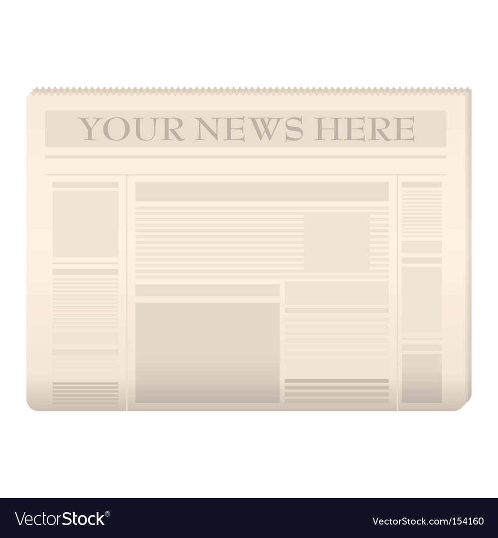 Newspaper template vector | Price: 1 Credit (USD $1)