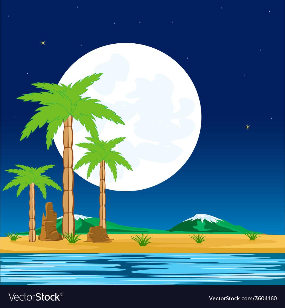 Night in tropic vector | Price: 1 Credit (USD $1)