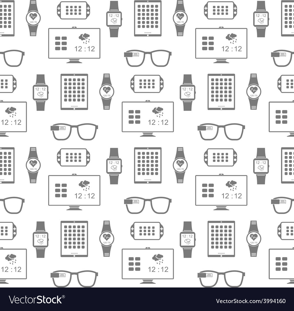 Pattern of smart gadgets vector | Price: 1 Credit (USD $1)