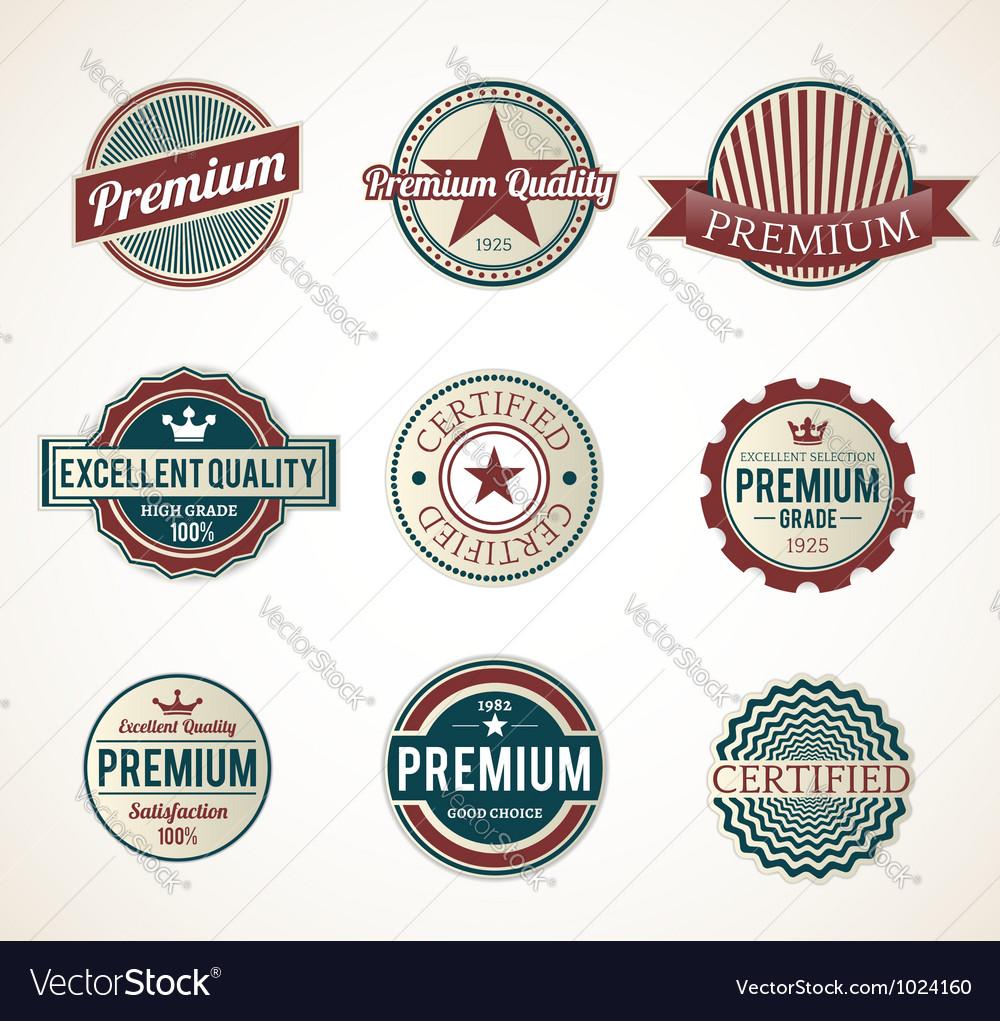 Premium labels vector | Price: 1 Credit (USD $1)