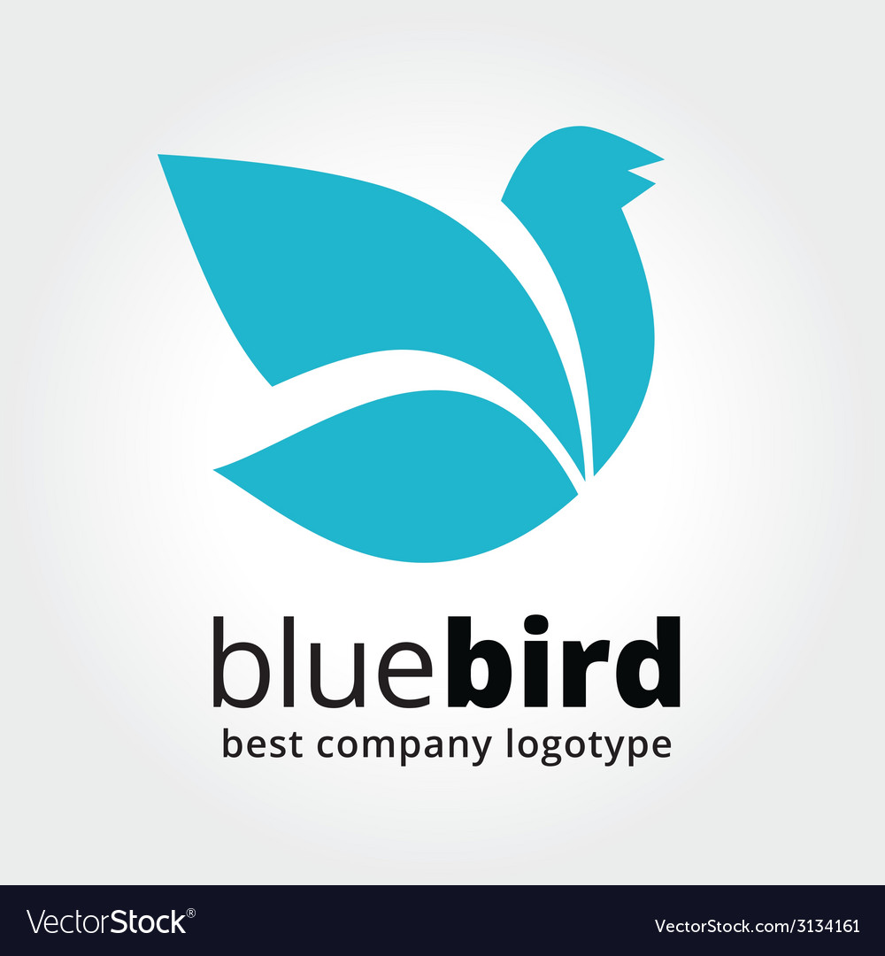 Abstract blue bird logotype concept isolated on vector | Price: 1 Credit (USD $1)