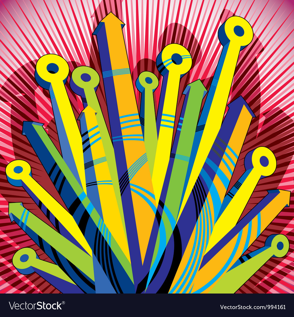 Abstract with 3d arrows vector | Price: 1 Credit (USD $1)