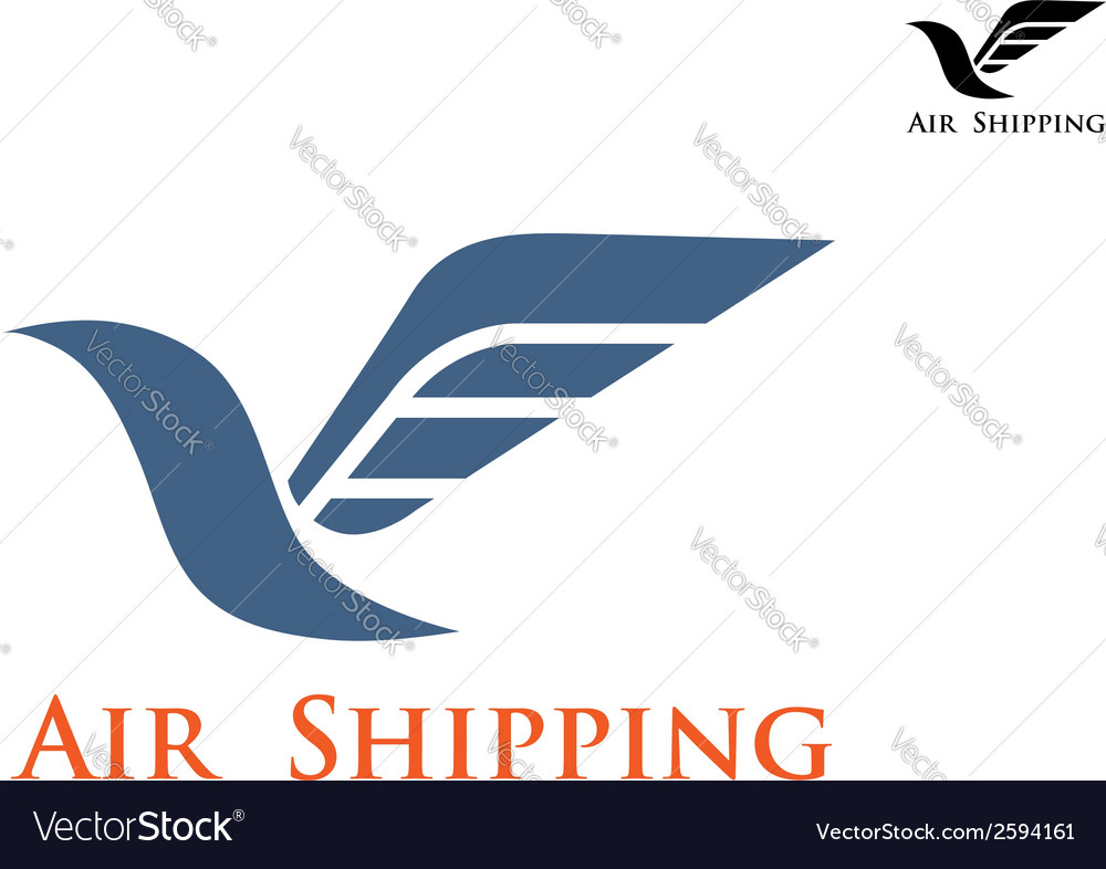 Air shipping symbol or emblem vector | Price: 1 Credit (USD $1)