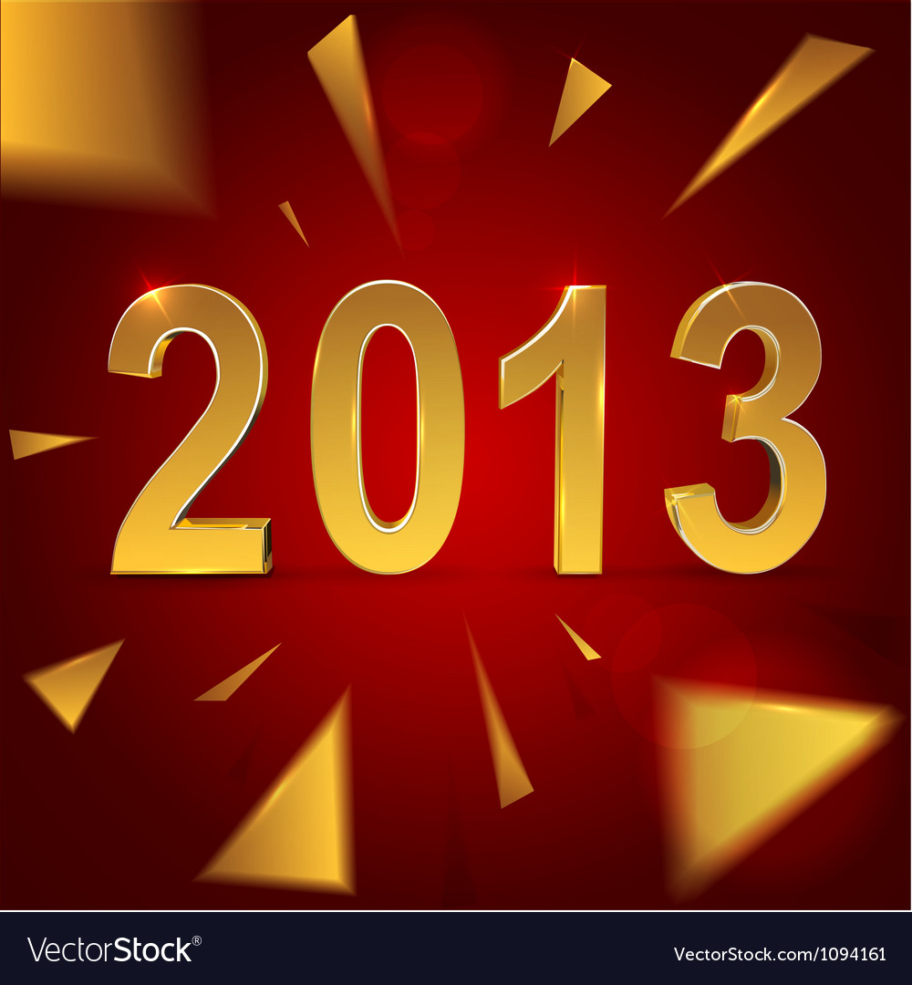 Christmas and 2013 new year background vector | Price: 1 Credit (USD $1)