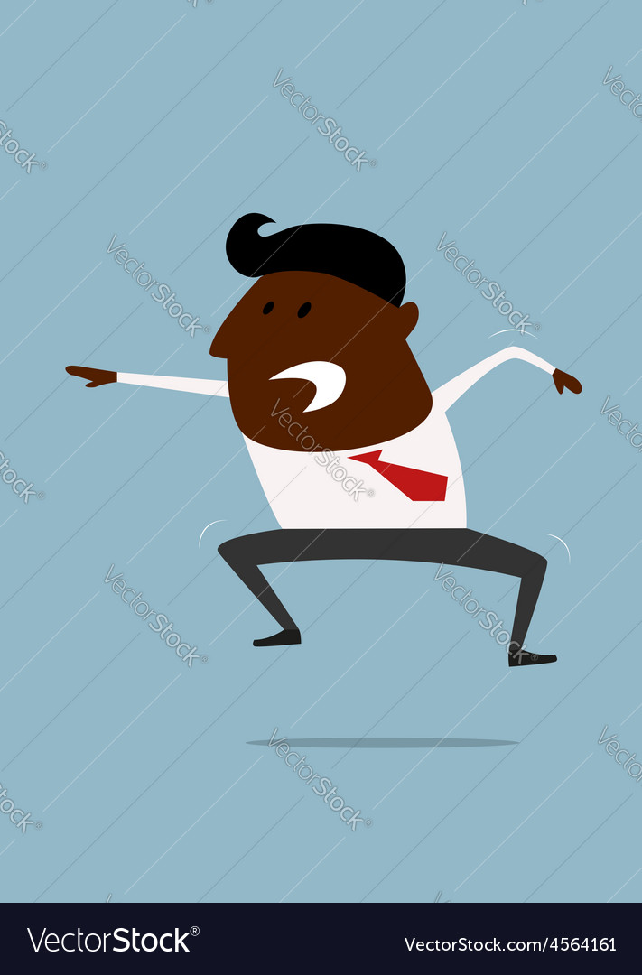 Excited or angry businessman shouting vector | Price: 1 Credit (USD $1)