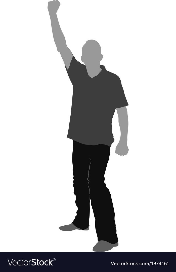 Fist raised vector | Price: 1 Credit (USD $1)