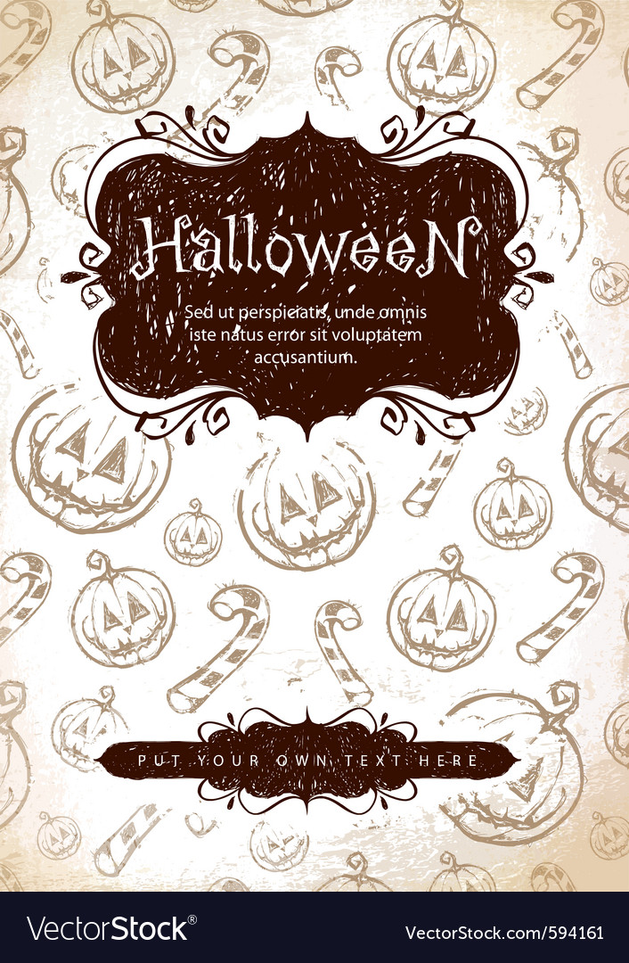 Handdrawn halloween vector | Price: 1 Credit (USD $1)