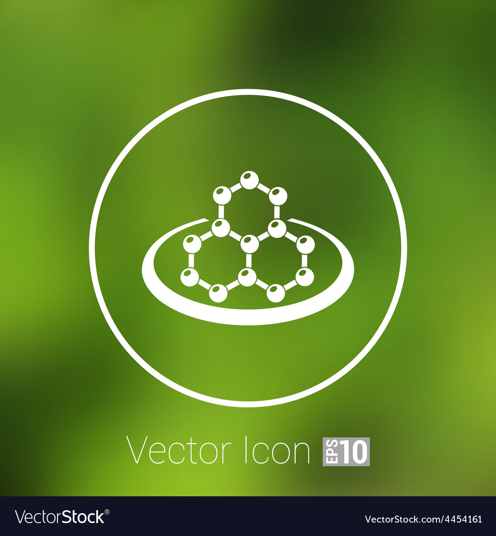 Icon molecular research chemistry medicine vector | Price: 1 Credit (USD $1)