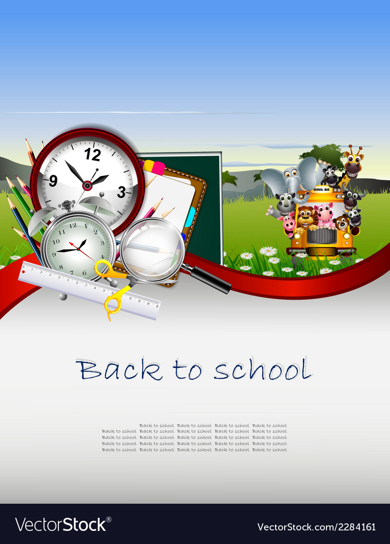 Modern back to school background for you design vector | Price: 3 Credit (USD $3)