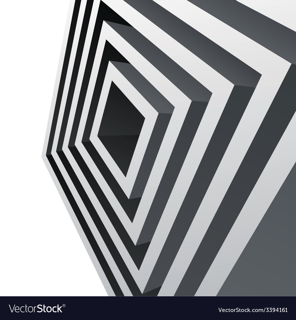 Perspective metal cubes abstract background vector | Price: 1 Credit (USD $1)
