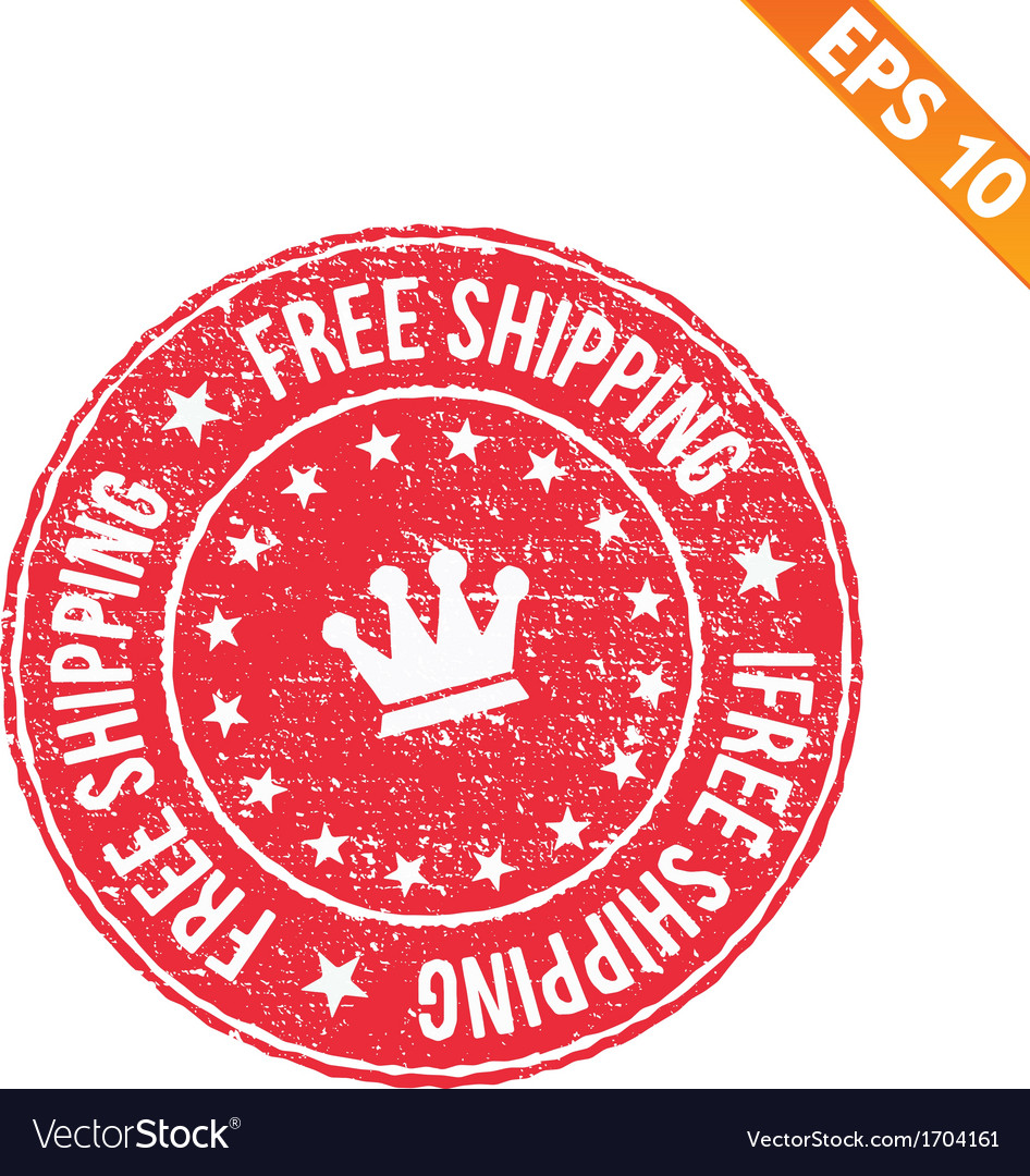 Rubber stamp free shipping - - eps10 vector | Price: 1 Credit (USD $1)