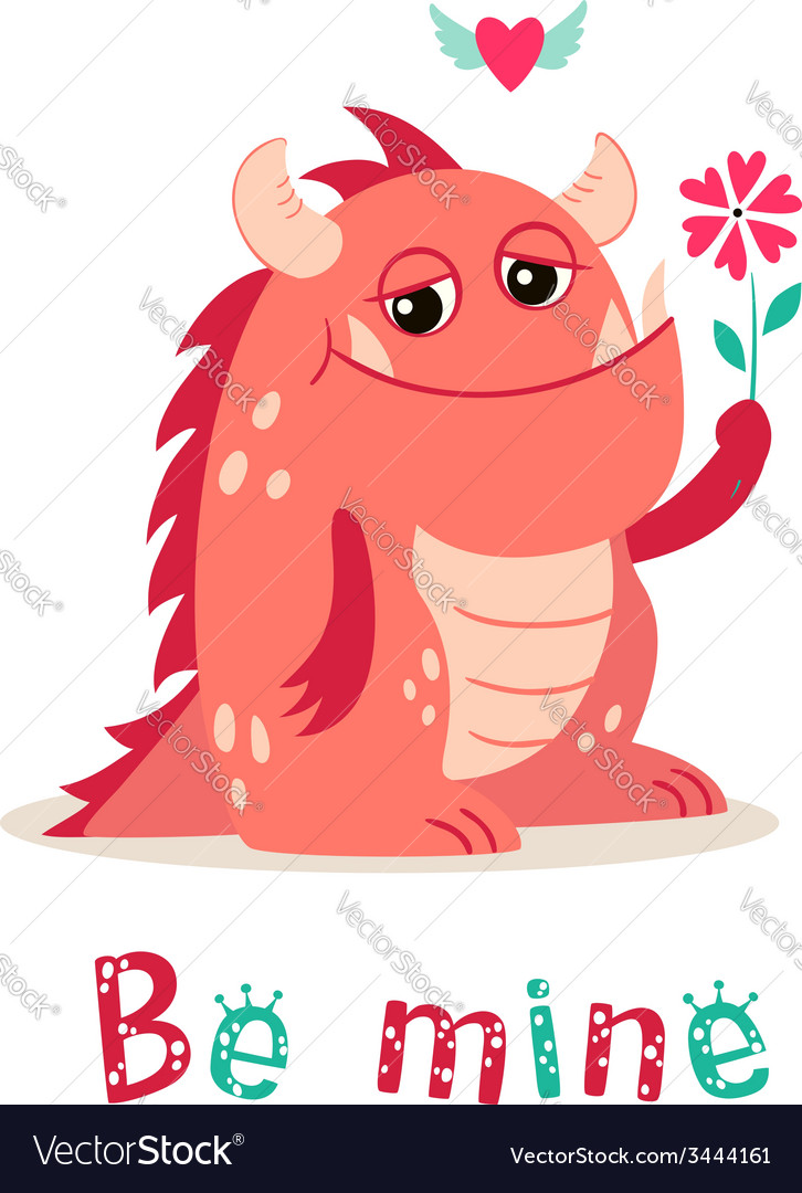 Valentine monster vector | Price: 1 Credit (USD $1)