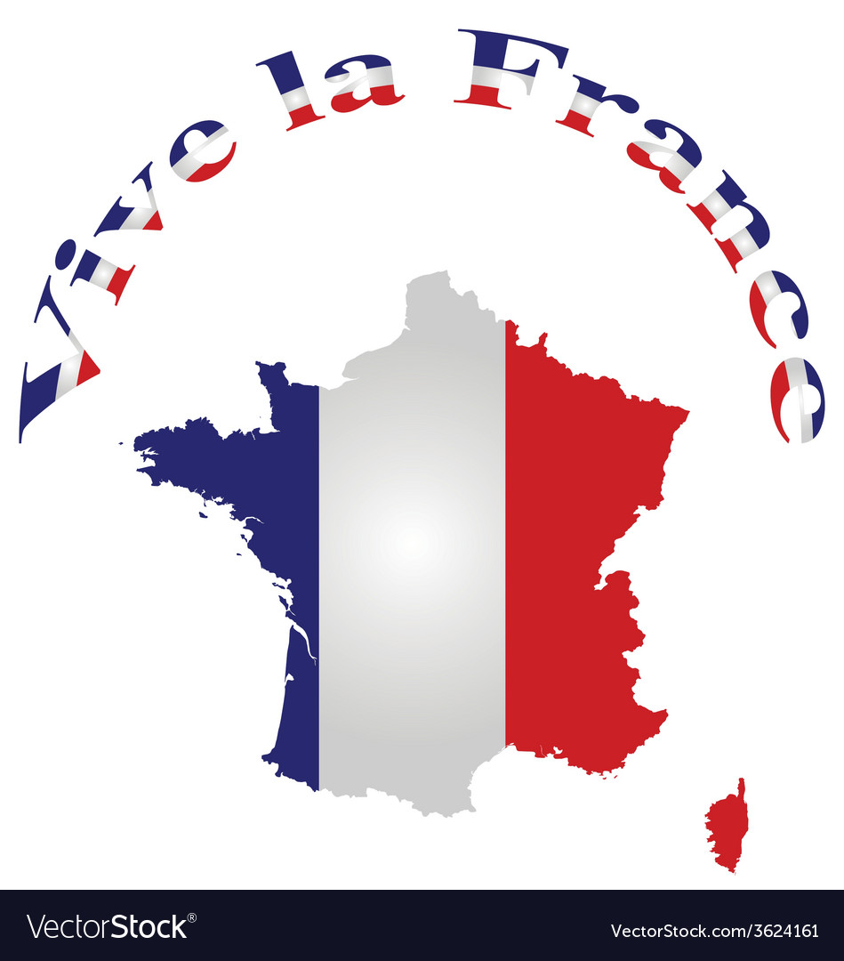 Vive la france vector | Price: 1 Credit (USD $1)