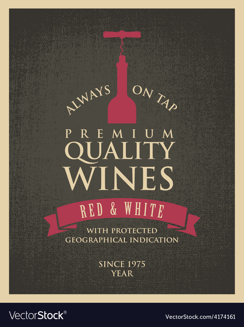 Wine banner vector | Price: 1 Credit (USD $1)