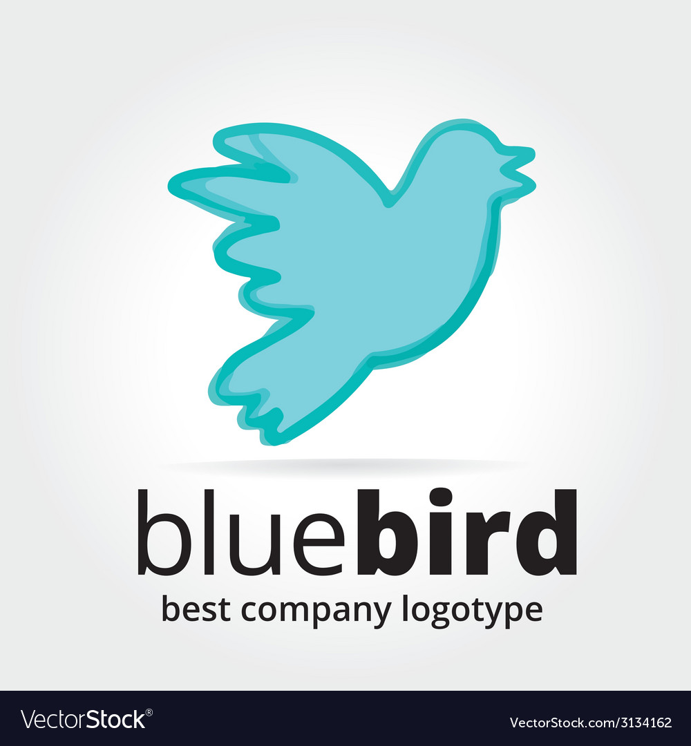 Abstract bird logotype concept isolated on white vector | Price: 1 Credit (USD $1)