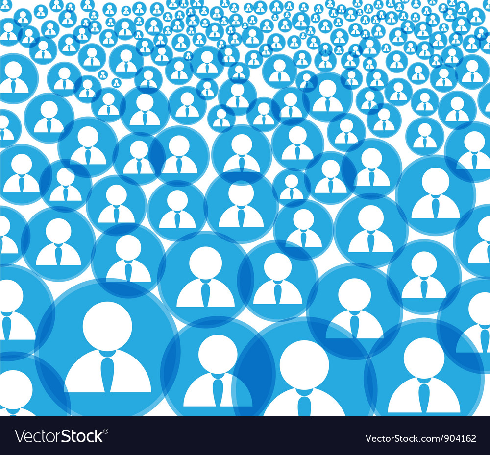 Abstract crowd vector | Price: 1 Credit (USD $1)