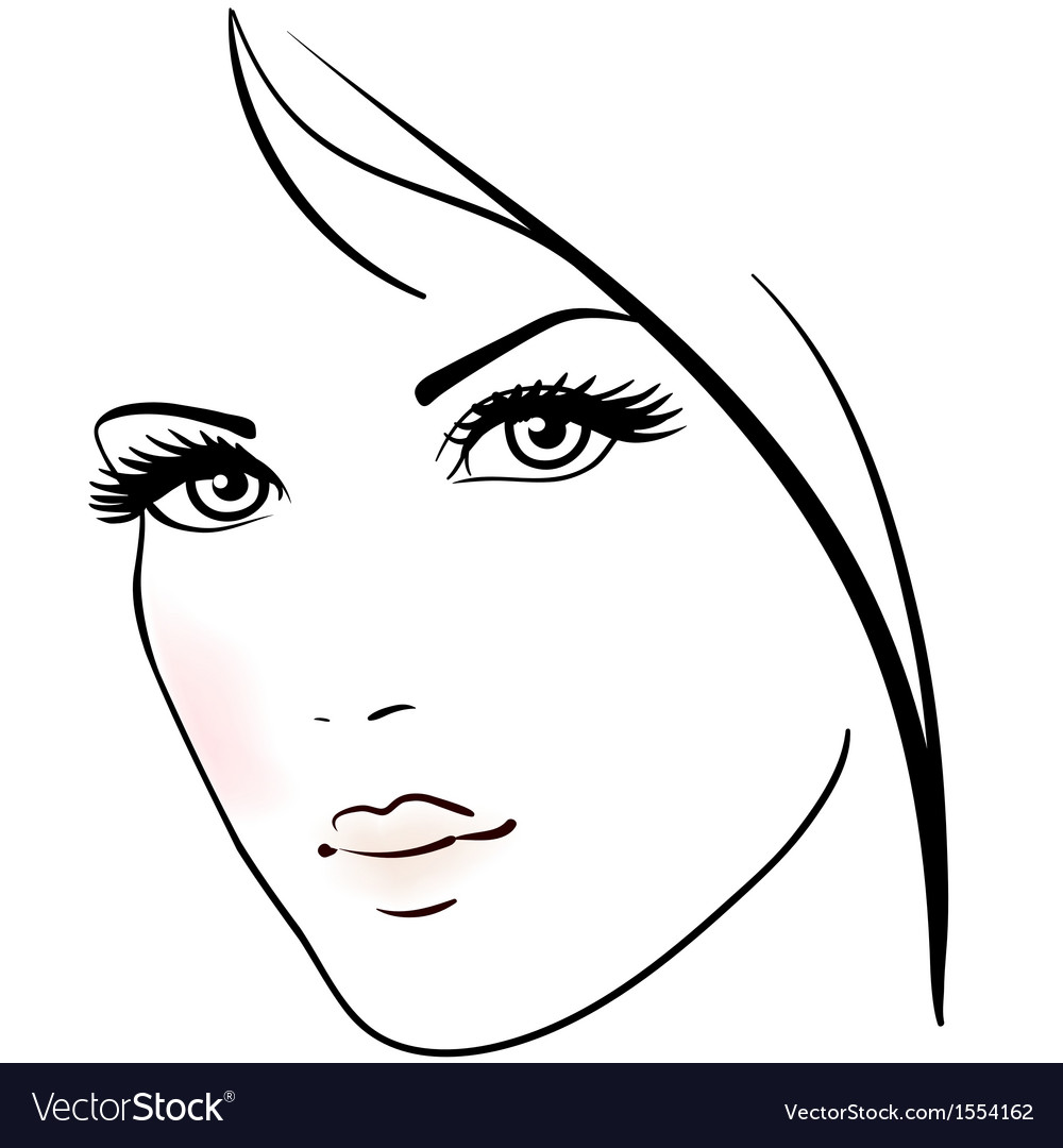 Beautiful woman face vector | Price: 1 Credit (USD $1)