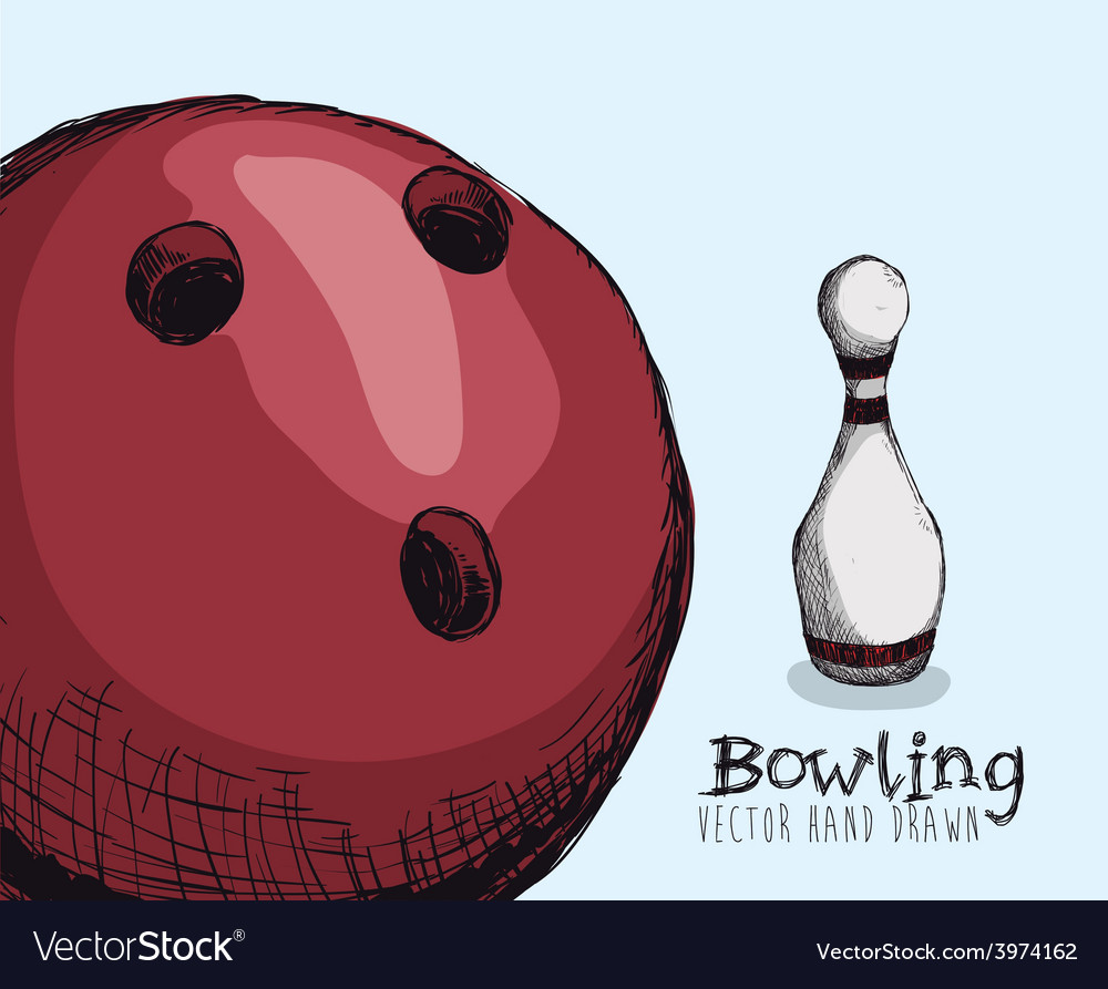 Bowling sport vector   Price: 1 Credit (USD $1)